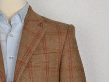 Load image into Gallery viewer, Crocket Magee of Donegal Irish Tweed Jacket Size 46 - Tan Windowpane
