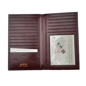 Goldpfeil Leather Breast Wallet/Card Holder - Burgundy