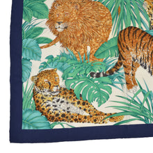 Load image into Gallery viewer, Salvatore Ferragamo Silk Scarf - Lion, Cheetah, Leopard