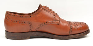 Alt Wien x Crockett & Jones Cap Toe Brogue Shoes Size 8E - Cognac Brown