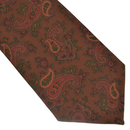 Ancient Madder English Silk Tie - Paisley