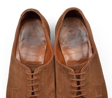 Load image into Gallery viewer, Alt Wien x Crockett & Jones Suede Norweger Split Toe Shoes Size 7E - Tobacco Brown