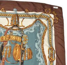 Load image into Gallery viewer, Hermès Paris La Perriere Bride de Cour Silk Scarf
