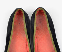 Load image into Gallery viewer, Turnbull & Asser Velvet Slipper/House Shoes Size ca. 41.5 - Black