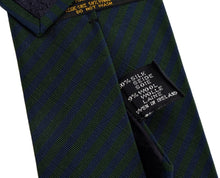 Load image into Gallery viewer, Atkinsons Irish Poplin Striped Tie - Navy & Green