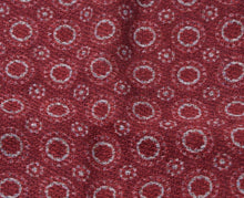 Load image into Gallery viewer, Wool/Silk Circle Pattern Pocket Square - Burgundy