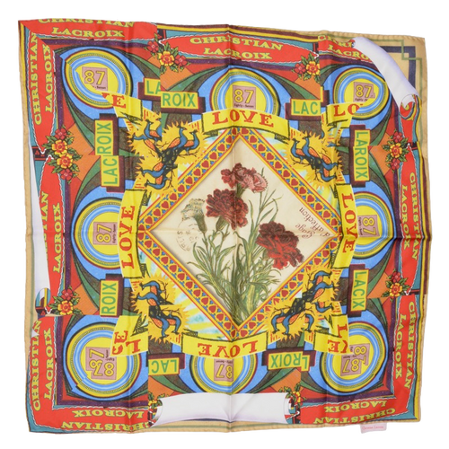 Christian Lacroix Printed Silk Scarf - Roses