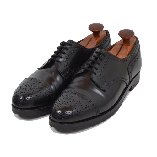 Alt Wien x Crockett & Jones Shell Cordovan Shoes Size 8 E - Black