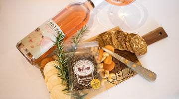 Delta Wine Company Rose and Barrys Bay Cheese