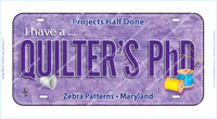 QUILTER'S PhD FabricPlate™