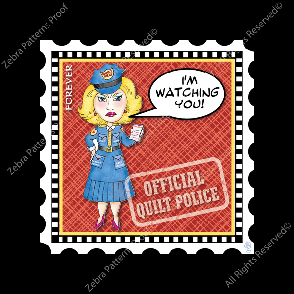 I'M WATCHING YOU/Quilt Police CharmStamp™