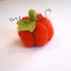 needle felted pumpkin ornament workshop