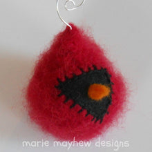 Load image into Gallery viewer, marie mayhew's hand knit cardinal ornaments