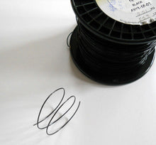 Load image into Gallery viewer, BLACK WIRE. 18 and 24-Gauge BLACK Wire by-the-yard