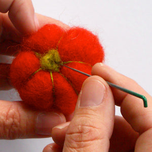 pumpkin needle felting kit complete with pattern