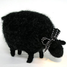Load image into Gallery viewer, grazing black sheep, woolly sheep pattern