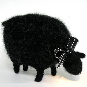 grazing black sheep, woolly sheep pattern