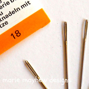 chenille embroidery needles in size 6 and 18