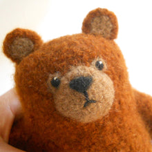 Load image into Gallery viewer, Yarn eyes on teddy bear. Comfort bear for that special someone.