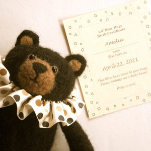 Teddy Bear Birth Certificate. Comfort bear for that special someone.