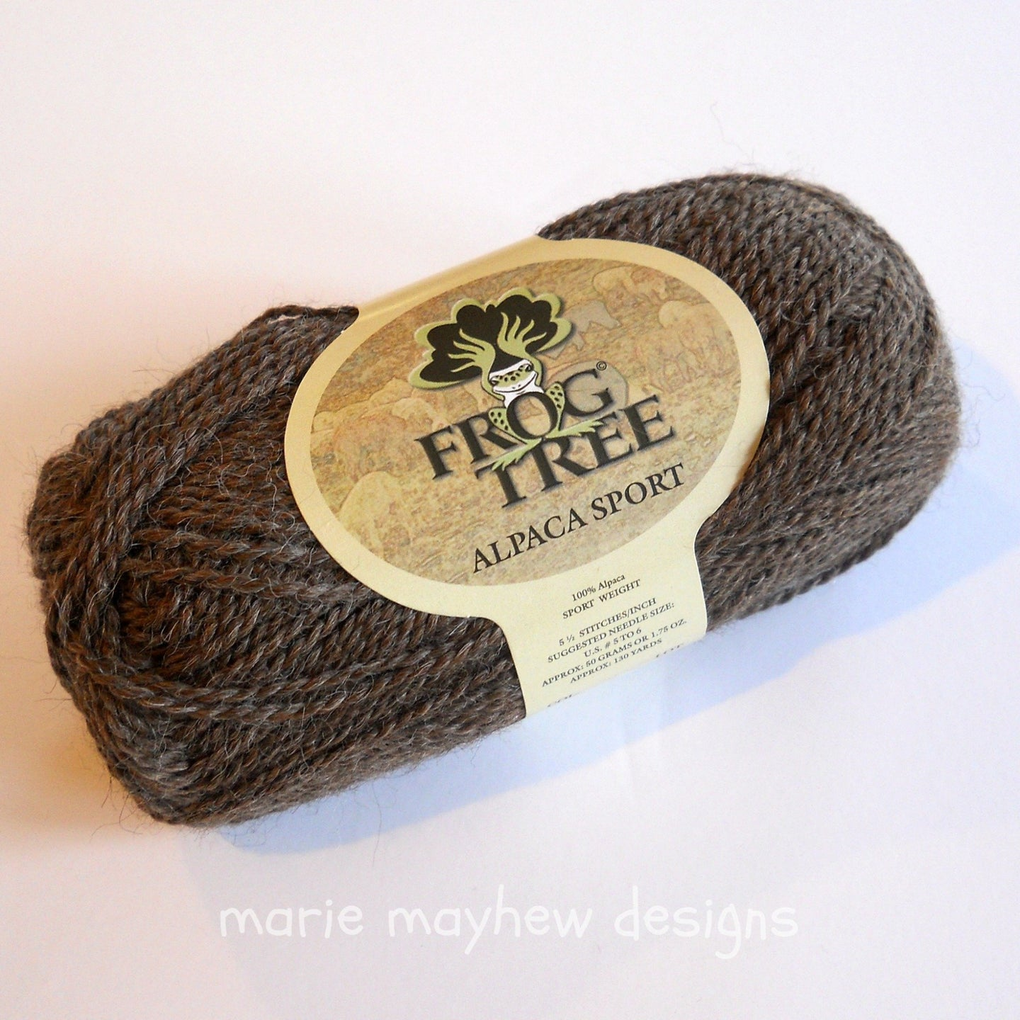Frog Tree alpaca sport weight yarn, color #008