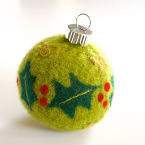 holly dazzle ornament pincushion pattern