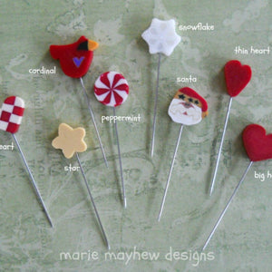 Holiday Clay Pins