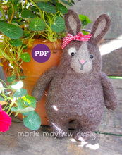 Load image into Gallery viewer, Lil' Bunny Kisses Bunny Pattern PDF