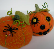 Load image into Gallery viewer, Marie Mayhew's Harvest Pumpkin pattern, embellished