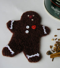 Load image into Gallery viewer, close up of wool gingerbread cookie