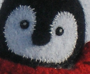 close up of woolly penguin chick pattern