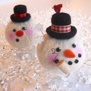 marie mayhew's roly-poly snowman pincushion pattern