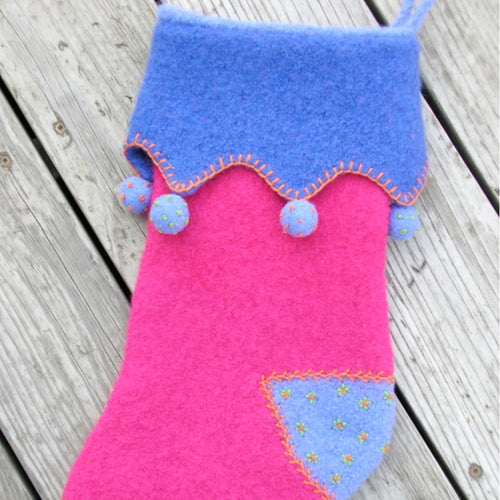 Marie Mayhew's Victorian Holiday Stocking pattern