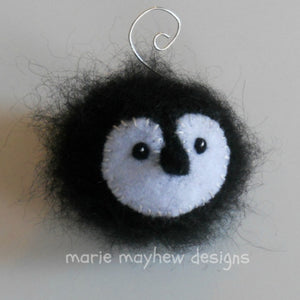 marie mayhew's hand knit penguin ornaments