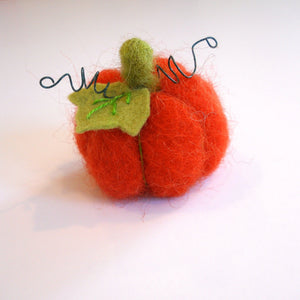 wool pumpkin ornament needle felting kit complete with pattern