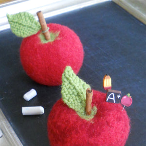 marie mayhew's back to school apple pincushion pattern