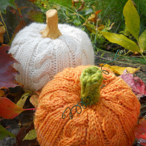 Cable-Stitch Pumpkin PDF