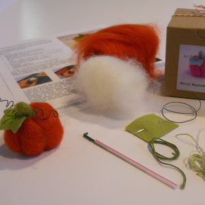 marie mayhew deisgns woolly pumpkin ornament kit