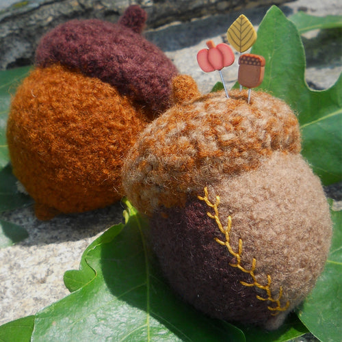 marie mayhew crazy quilt acorn pincushion pattern