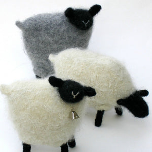 woolly sheep made with cream cascade 220 worsted weight yarn