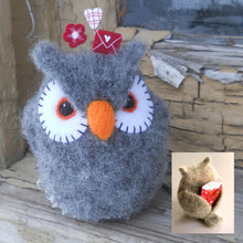 Load image into Gallery viewer, owl be yours felted owl pincushion pattern marie mayhew