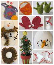 Load image into Gallery viewer, 10 knit snowman accessories pattern