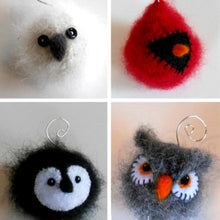 Load image into Gallery viewer, marie mayhew's woolly bird holiday ornament pattern