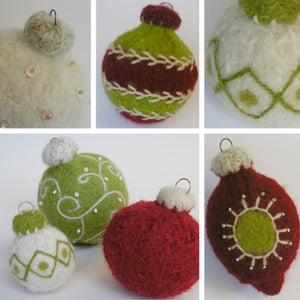 marie mayhew's woolly holiday ornaments pattern