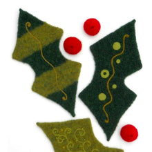 Load image into Gallery viewer, marie mayhew's woolly holly leaf & berries pattern