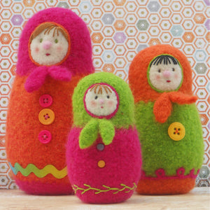 marie mayhew's woolly matryoshka dolls pattern
