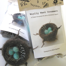 Load image into Gallery viewer, marie mayhew's woolly nest & eggs ornament kit