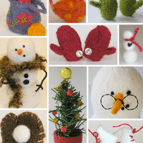 marie mayhew's woolly snowman accessories pattern