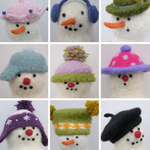 marie mayhew's woolly snowman hats pattern