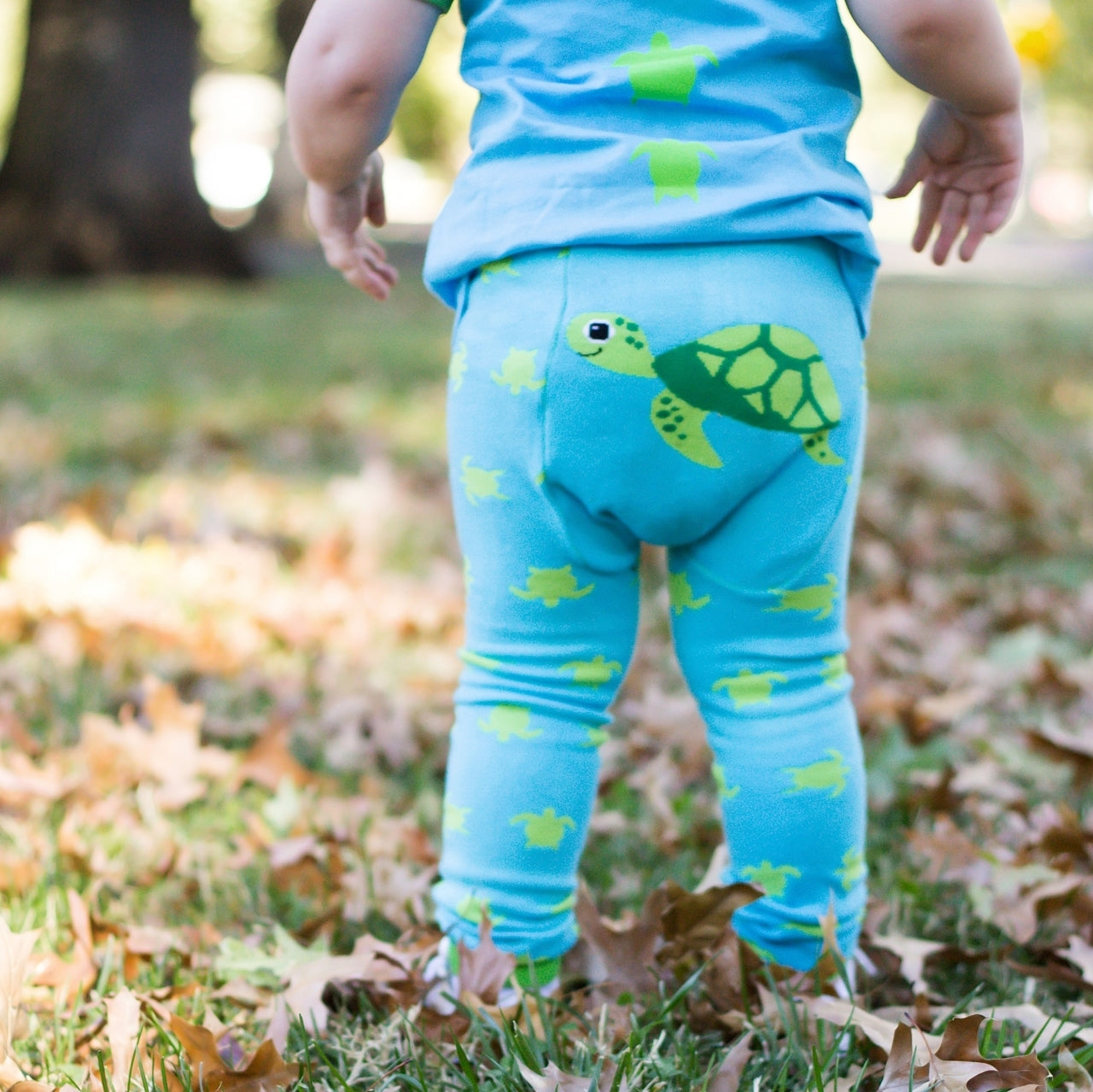 Sea Turtle Cotton Leggings